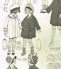 1920s Vintage McCall Sewing Pattern 3962 Cute Toddler Girls Flapper Coat Size 6
