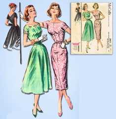 1950s Vintage McCall's Sewing Pattern 3971 Easy Misses Instant Dress Sz 32 Bust