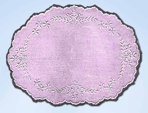 1920s Vintage McCall Kauamagraph Embroidery Transfer 402 Uncut Oval Centerpiece - Vintage4me2