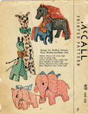 1930s Vintage McCall Sewing Pattern 419 Mom & Baby Stuffed Animal Dolls Giraffe - Vintage4me2
