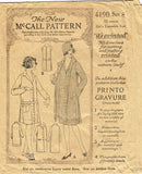 1920s Vintage McCall Sewing Pattern 4190 Little Girls Flapper Dress & Coat Sz 8 - Vintage4me2