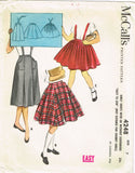McCall 4248: 1950s Uncut Little Girls Skirt Set Size 7 Vintage Sewing Pattern