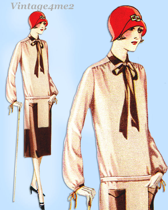 McCall 4405: 1920s Uncut Woman's Flapper Dress Sz 38 Bust Vintage Sewing Pattern