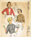 1950s Vintage McCalls Sewing Pattern 4459 Misses Kimono Jacket Set Size 14 34B