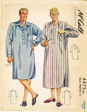 1940s Vintage Mens Nightshirt 1941 McCall VTG Sewing Pattern 4473 Size LRG