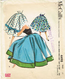 1950s Vintage McCall's Sewing Pattern 4498 Misses Easy Circle Skirt Size 27 W