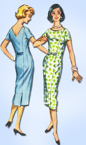 1950s Vintage McCalls Sewing Pattern 4529 Easy Misses Wiggle Dress Sz 11 31.5 B