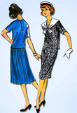 1950s Vintage McCalls Sewing Pattern 4631 Misses 2 Pc Sailor Dress Size 10 30B - Vintage4me2