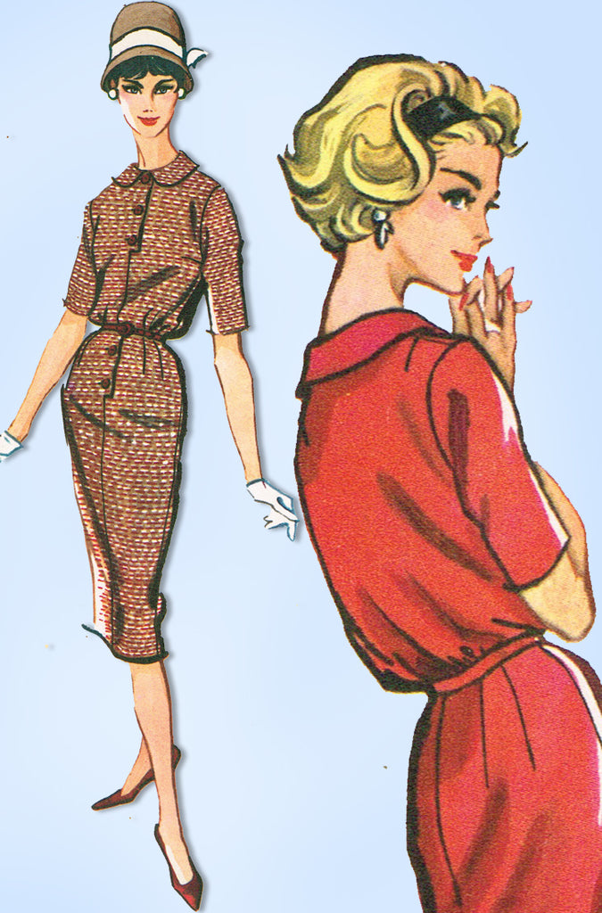 1950s Original Vintage McCalls Pattern 4659 Misses Blouson Dress Sz 34 Bust