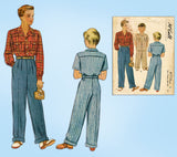 1940s Vintage McCalls Sewing Pattern 4776 WWII Toddler Boys Shirt & Slacks Sz 6