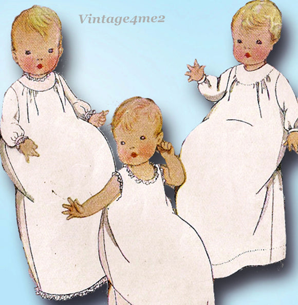 McCall 4832: 1920s Infants Christening Dress & Slip Vintage Sewing Pattern