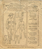 1920s McCall Sewing Pattern 4853 Toddler Boys Rough Rider Military Costume Sz 6