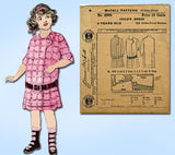 1910s Vintage McCall Sewing Pattern 4906 Uncut Toddler Girls Victorian Dress Sz4 - Vintage4me2