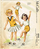 1950s Vintage McCalls Sewing Pattern 4944 Helen Lee Girls Sports Separates Sz 4