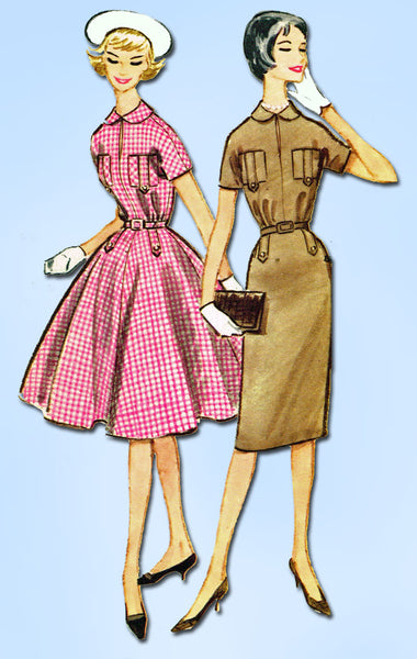 1950s Vintage McCall's Sewing Pattern 4986 Misses Easy Street Dress Size 18 38B
