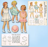 1930s Original Vintage McCall Sewing Pattern 499 Baby Girls Slip & Panties Sz 4 - Vintage4me2