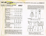 1950s Vintage McCall's Sewing Pattern 4997 Misses Two Piece Dress Size 14 34B