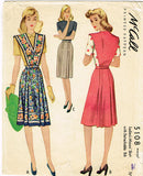 1940s Vintage McCall Sewing Pattern 5108 Uncut Misses WWII Jumper Size 26 Waist - Vintage4me2