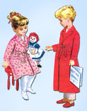 1950s Vintage McCalls Sewing Pattern 5229 Children's Robe Boys Girls Size 6