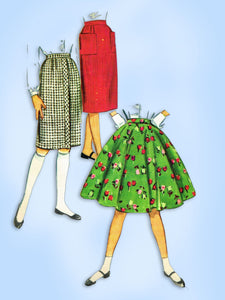 McCall 5232: 1950s Uncut Little Girls Skirt Set Size 10 Vintage Sewing Pattern - Vintage4me2