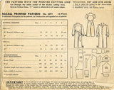 1940s Vintage McCall Sewing Pattern 5291 Uncut Toddlers Coveralls or Creeper Sz6 - Vintage4me2