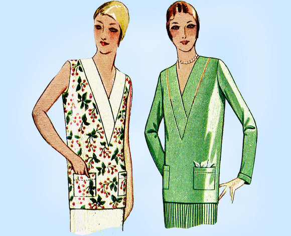 McCall 5294: 1930s Misses Flapper Blouse Size 36 Bust Vintage Sewing Pattern - Vintage4me2