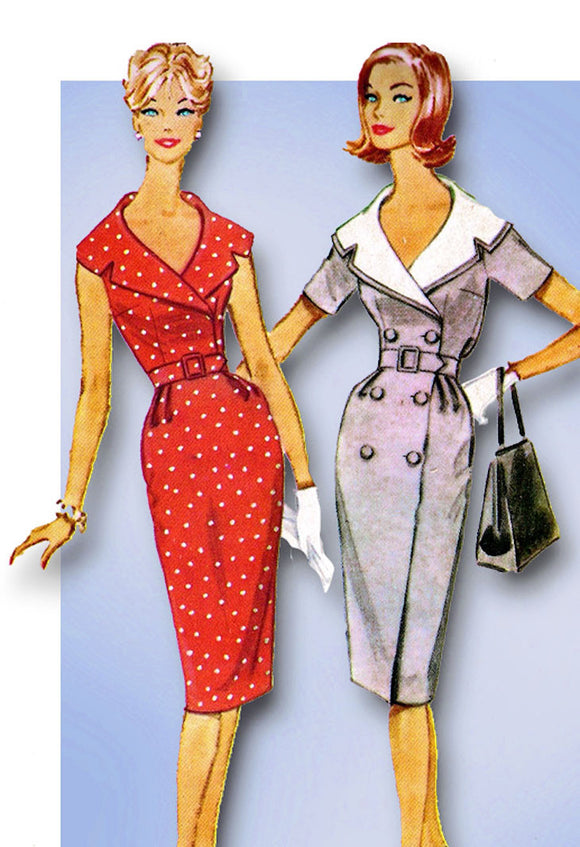 1960s Vintage McCalls Sewing Pattern 5327 Misses Wiggle Dress Size 14 34 Bust