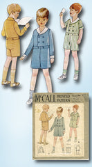 1920s Original Vintage McCall Sewing Pattern 5332 Cute Toddler Boys Suit Size 6