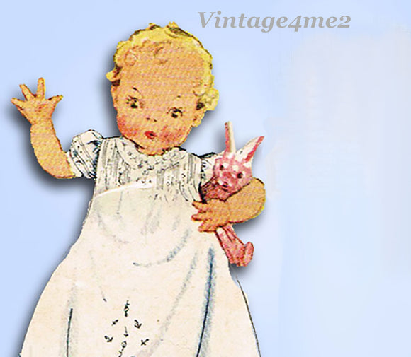 1930s Vintage McCall Sewing Pattern 537 Sweet Infants Embroidered Layette Set