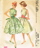 1960s Vintage McCall's Sewing Pattern 5394 Easy Misses Sun Dress Size 36 Bust - Vintage4me2