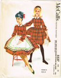 1960s Vintage McCalls Sewing Pattern 5537 Helen Lee Little Girls Dress Size 10