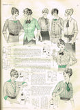 1910s Antique Ladies Shirtwaist 1913 McCall VTG Sewing Pattern 5578 Size 18 ORIG - Vintage4me2