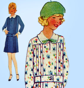 1920s Vintage McCall Sewing Pattern 5676 Uncut Toddler Girls Flapper Dress Sz 6 - Vintage4me2