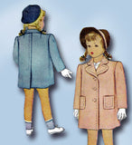 1940s Vintage McCall Sewing Pattern 5971 WWII Toddler Girls Coat Size 4 23 Bust - Vintage4me2
