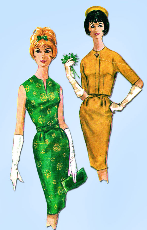 1960s Vintage McCalls Sewing Pattern 6086 Misses Cocktail Dress & Jacket Sz 34 B - Vintage4me2
