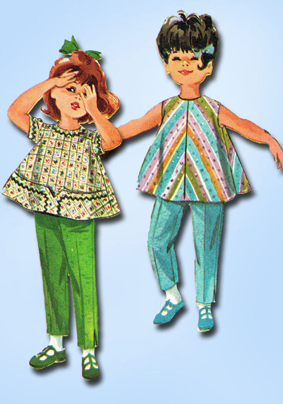 1960s McCalls Sewing Pattern 6253 Helen Lee Toddler Girls Top & Pants Size 2 -Vintage4me2