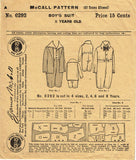 1910s Vintage McCall Sewing Pattern 6292 Little Boys Edwardian Suit Size 8 - Vintage4me2
