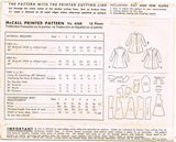 1940s Vintage McCall Sewing Pattern 6568 Cute Toddler Girls Princess Coat Size 6 - Vintage4me2