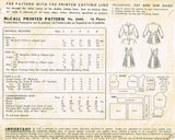 1940s Vintage McCall Sewing Pattern 6666 Toddlers Suit w Bomber Jacket Size 3 - Vintage4me2