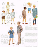 1940s Vintage McCall Sewing Pattern 6671 Cute Toddler Boys Suit Size 5 - Vintage4me2