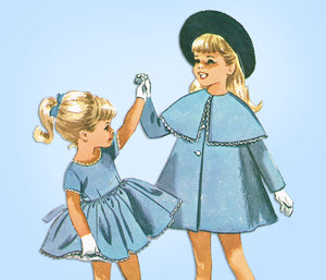1960s Vintage McCalls Sewing Pattern 6701 Helen Lee Toddler Girls Dress & Coat 5 - Vintage4me2