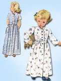 1940s Vintage McCall Sewing Pattern 6708 Charming Toddler Girls Housecoat Size 4 - Vintage4me2