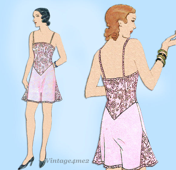 McCall 6718: 1930s Rare Misses Combination Lingerie 40 B Vintage Sewing Pattern