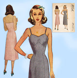 McCall 7034: 1940s Misses Princess Slip w Bra Top Sz 36 B Vintage Sewing Pattern
