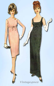 1960s Vintage Misses Easy Evening Gown McCalls Sewing Pattern 7043 Size 34 Bust