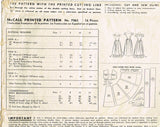 1940s Vintage McCall Sewing Pattern 7065 Little Girls Party Dress Size 12 30B