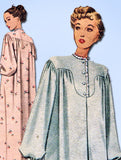 1940s Vintage McCall Sewing Pattern 7095 Uncut Misses Nightgown Size 30 32 Bust