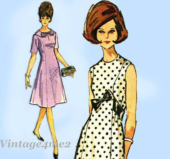 1960s Vintage McCalls Sewing Pattern 7124 Uncut Misses Easy Dress Sz 36 B1960s Vintage McCalls Sewing Pattern 7124 Uncut Misses Easy Dress Sz 36 B
