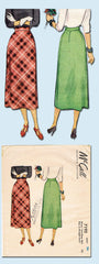 1940s Vintage Misses Day Skirt Uncut 1948 McCall Sewing Pattern 7192 Size 26 W