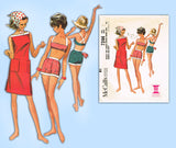 McCall's 7244: 1960s Misses Surfer Set Beach Wear Sz 34 B Vintage Sewing Pattern